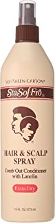 SoftSheen-Carson Sta-Sof-Fro Hair & Scalp Spray Comb Out Conditioner with Lanolin, Extra Dry, 16 fl oz
