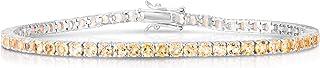 Femme Luxe Birthstone Tennis Bracelet for Women, January to December Birthstones, Hypoallergenic 925 Sterling Silver, Gift...