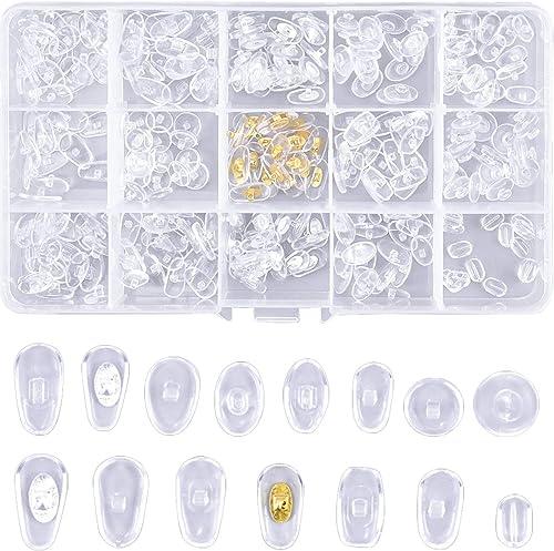HQdeal 150 Paires Coussinets de Nez pour Lunettes,Plaquettes de Lunettes en Silicone Souple Antidérapant, Plaquettes ...