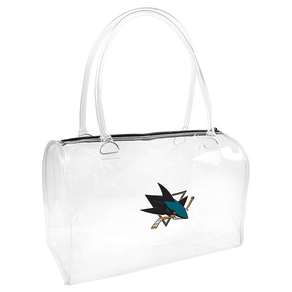 NHL Women's Bowler Handbag, One Size, Clear