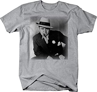 Al Capone Suit Cigar American Gangster Retro Vintage Graphic T Shirt for Men