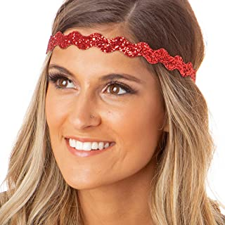 Women's Adjustable NO Slip Wave Bling Glitter Headband