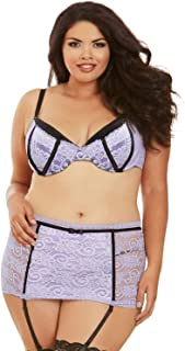 97159fac363 FREE Shipping on eligible orders. Dreamgirl Women s Plus Size High-Waisted  Garter Belt