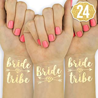 xo, Fetti 24 Bride Tribe Metallic Tattoos - Gold | Bachelorette Party Decorations, Bridesmaid Gift + Bride to Be Favor