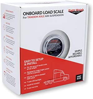 Right Weigh 510-46-RKC Tandem Axle Load Scale Kit for Single HCV Air Suspension