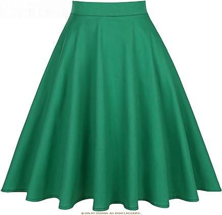 d0490a8f69bb93 KennsGations Black Skirt Women High Waist Plus Size Floral Print Polka Dot  Ladies Summer Skirts Skater