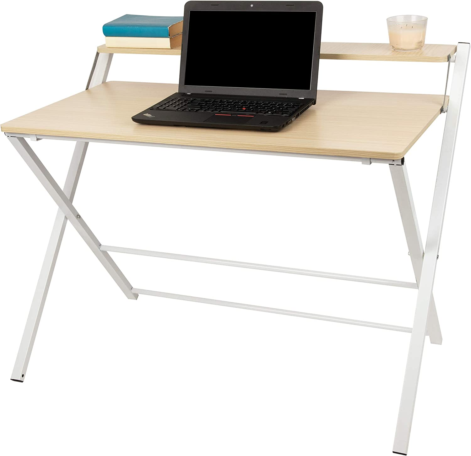 Mind Reader Folding Table Station Home Wood Of White Portable Sales for sale Courier shipping free