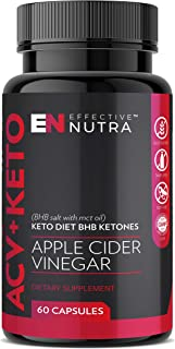 Apple Cider Vinegar Keto Pills – Pure Ketosis with BHB Salts & MCT Oil – Antioxidant Action – Natural Energy for Weight Ma...