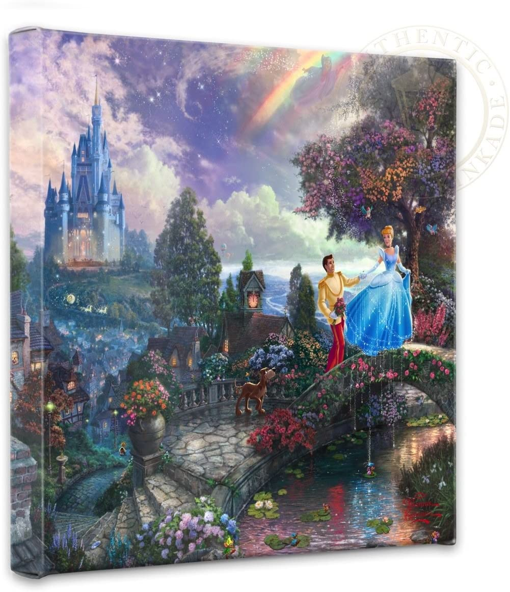 Thomas Kinkade - Gallery Wrapped Very popular Upon Cinderella Wishes Canvas All items free shipping
