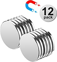 """AFANTY Neodymium Magnets, 12 Pack Powerful Rare Earth Magnets, 1.26""""D x 1/8""""H Permanent Strong Magnets, for Fridge, Whiteboard, Garage, Office DIY"""