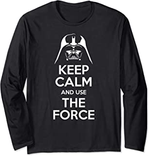 Keep Calm And Use The Force Cool Funny Saying Long Sleeve T-Shirt