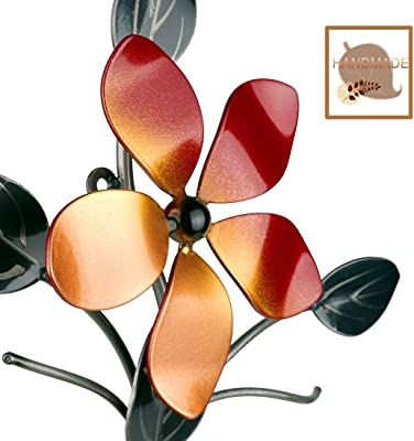 Amazon Com Bsart Metal Wall Decor Wall Art Wall Sculpture Metallic Luster Flower Vine Decor Indoor And Outdoor Middle Home Kitchen