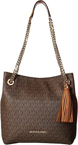 6abeeaccc28009 Brown. 8. MICHAEL Michael Kors. Jet Set Chain Signature Medium Shoulder Tote