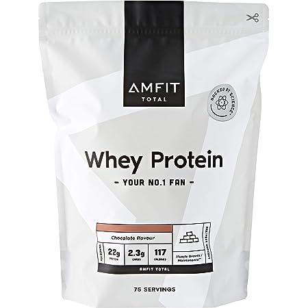 Marchio Amazon - Amfit Nutrition Proteine del Siero di Latte in Polvere 2.27kg - Cioccolato (precedentemente marchio PBN)