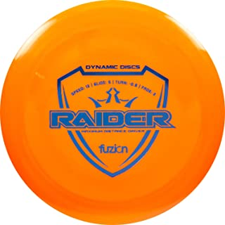 Dynamic Discs Fuzion Raider Disc Golf Driver | 170g Plus | Maximum Distance Frisbee Golf Driver | Stamp Color Will Vary