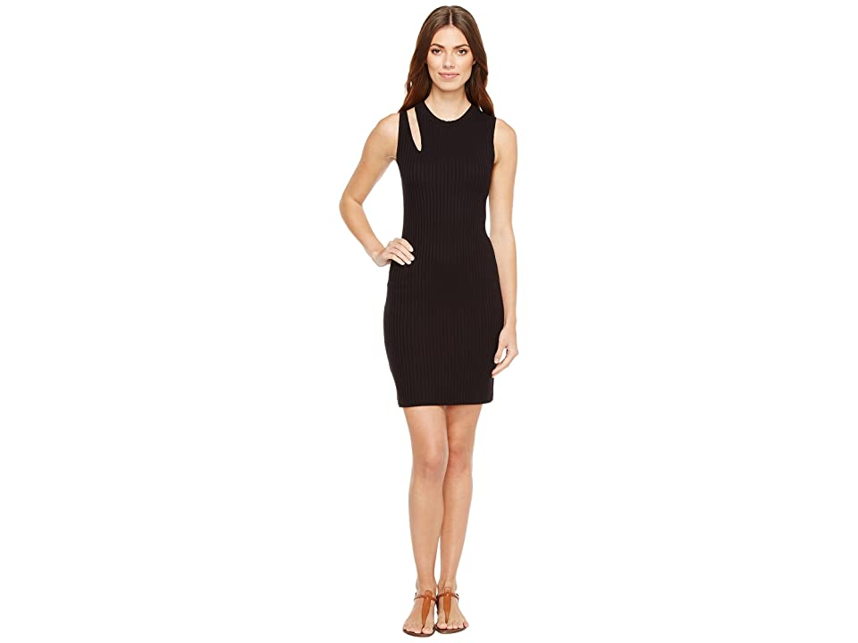 LNA Single Slice Tank Dress (Black) Women