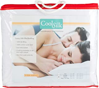 Cool Silk Comforter Dust Mite and Allergy Free Duvet, 106