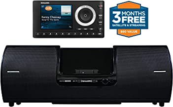 SiriusXM SXSD2 Portable Speaker Dock Audio System & SiriusXM SXPL1V1 Onyx Plus Satellite Radio with Vehicle Kit with Free 3 Months Satellite and Streaming Service (Bundle)