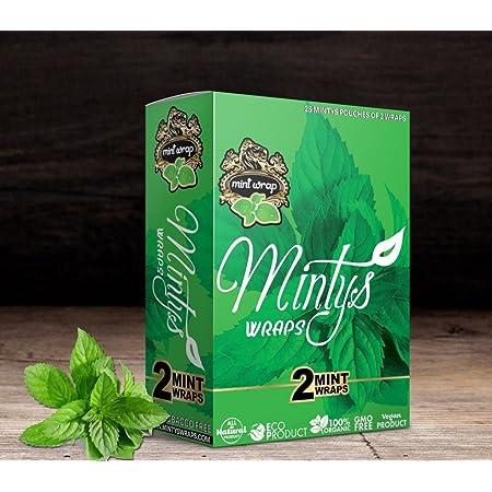 Minty's Organic Wraps 25 wraps each with 2