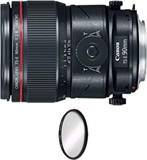 Canon TS-E 90mm f/2.8L Macro Tilt-Shift Lens + UV Protective Filter Combo (International Model)