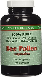 YS Organics Bee Pollen - 200 capsules - Pack of 2