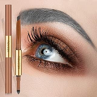 Mesaidu 3-in-1 Eye Makeup Eyebrow Pencil, Blender, Brush All In One (Ash Grey)