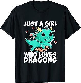 Just A Girl Who Loves Dragons Joli Dragon Costume Cadeau T-Shirt