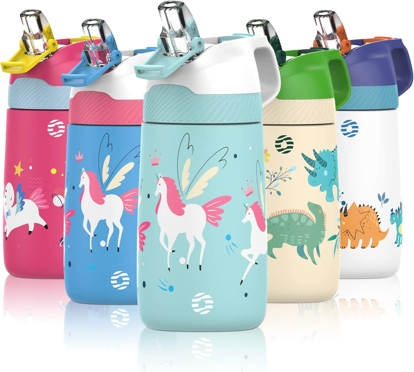 FJbottle Kids Water Translated Bottle with Special price for a limited time Straw Lid oz Vacuum 13 Insulated
