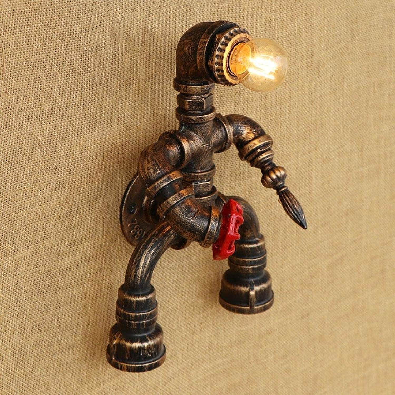 Y&M AC 220-240 Edison E27 Wasserrohr Wandleuchte Cafe Persnlichkeit dekoriert Wandleuchte