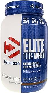 Dymatize Elite 100% Whey Protein Powder, Rich Chocolate, 2 Pound