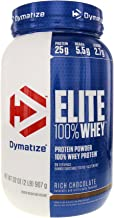 Dymatize Elite 100% Whey Protein Powder, Rich Chocolate, 2 Pound