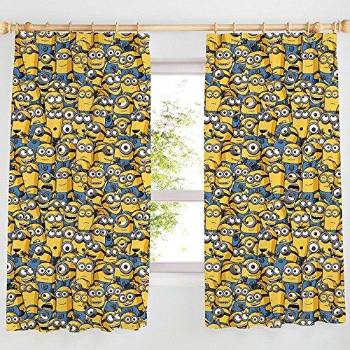 Sea of Minions Vorhänge mit Bleistiftfalten, 137,2 cm oder 182,9 cm lang, 167,6 x 137,2 cm lang