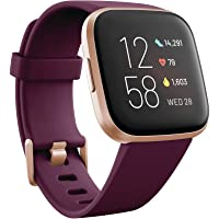Fitbit Versa 2 Health & Fitness Smartwatch With Heart Rate, Music, Alexa Built-in, Sleep & Swim Tracking, (S & L Bands Included) (various colors)