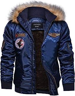 Cappotti di Moda Militare Casual da Uomo Giacca Invernale di Cotone Spesso Giacca di Bombardiere Giacca da Pilota Esercito...