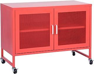 MEUBLE COSY CABINET , rouge /90 x 46 x 67 cm