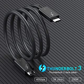 [Intel Certified] Thunderbolt 3 Cable, 100W Charging / 40Gbps Data Transfer TB3 Cable Supports Single 5K 60hz or 2X 4K 60h...