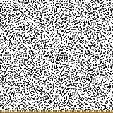 ABAKUHAUS Schwarz und weiß Microfaser Stoff als Meterware,