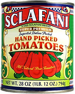 Hand Picked Whole Peeled Plum Tomatoes in 28 Ounce Cans (4 Pack)