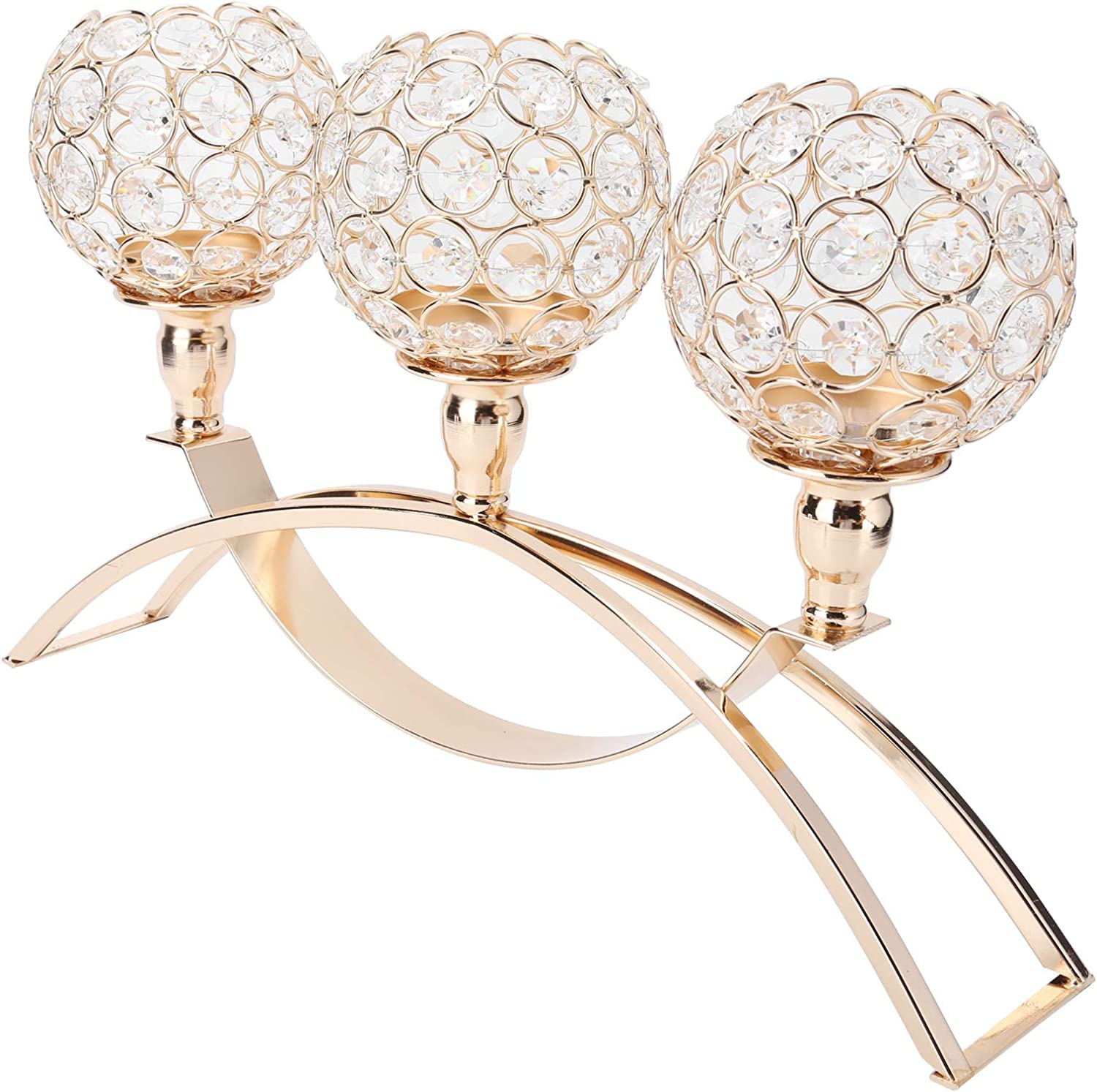 Crystal Under blast sales Candle Holders - Golden Max 80% OFF Candlestick Ornaments Romantic