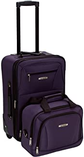 Rockland Fashion Softside Upright Luggage Set, Purple, 2-Piece (14/19)