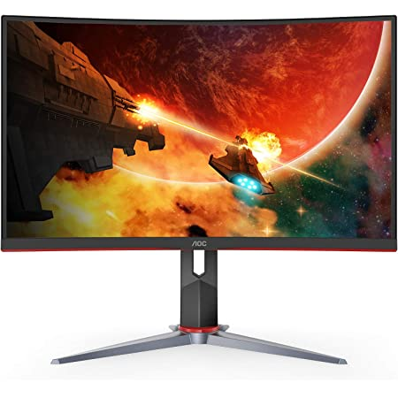 "AOC C32G2 32"" Curved Frameless Gaming Monitor FHD, 1500R Curved VA, 1ms, 165Hz, FreeSync, Height adjustable, 3-Year Zero Dead Pixel Policy, Black"