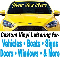 vinyl lettering car stickers