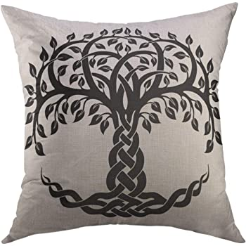 tree of life celtic knotwork cushion cover discount decorative pillow US SELLER