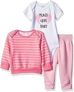 Hanes Ultimate Baby Flexy Fleece Jogger with Sweatshirt and Bodysuit Set