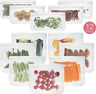 PaisDola Sacs à Sandwich Réutilisables Sacs De Stockage De Nourriture Sacs à Lunch, Qualité Alimentaire FDA sans BPA Respe...