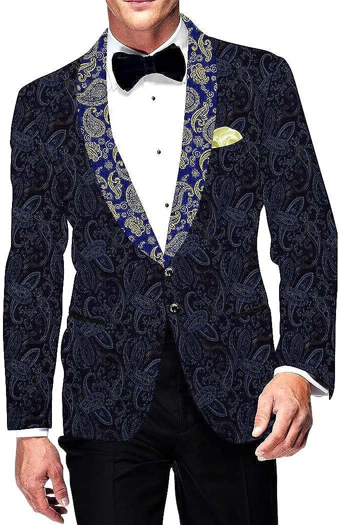 INC Mens Ivory Slim Fit Paisley Sport Coat Blazer Jacket L BHFO 1577