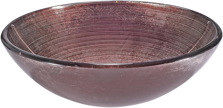 Infurniture za-1301gehrtetem Glas, rund, 1,3cm Dick, 41,9cm Durchmesser, 12,7cm Hhe rund Waschbecken aus Sekuritglas, Schüssel 1,3cm X 5braun grün silber, 1,3cm X 5