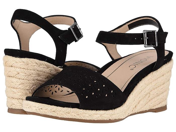 VIONIC  Ariel (Black) Womens Wedge Shoes