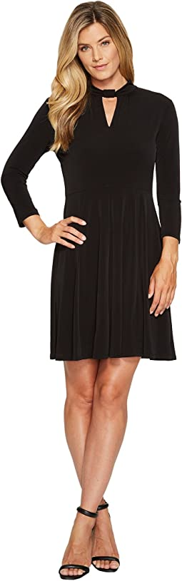 MICHAEL Michael Kors - Solid Neck Detail Dress