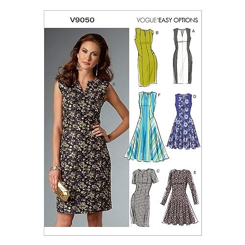 f88f14fb74d Vogue Patterns 9050 A5 Patrons de robes pour femme Multicolore Tailles 34 à  42